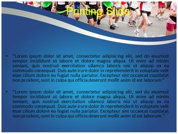 Marathon PowerPoint Template
