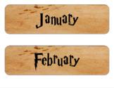 Marauder's Map Calendar Months and Dates