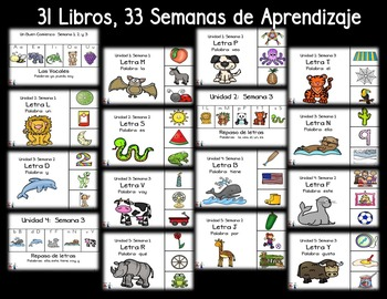DISCOUNTED - COMPLETE BUNDLE of Weekly Lessons by Lectura Para Ninos