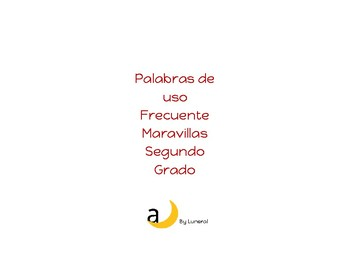 Maravillas High Frequency Words/Palabras de uso frecuente Maravillas 2do grado