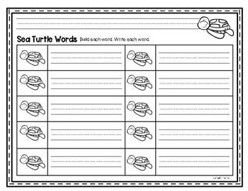 Wonders Kindergarten Sight Word Building Activities