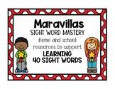 Maravillas Kindergarten Sight Word Mastery
