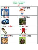Maravillas/Palabras de Ortografía (ch)