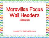 Maravillas Spanish Focus Wall Headers