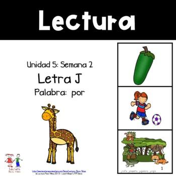 Unidad 5, Semana 2: LETRA J