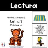 Unidad 1, Semana 3: LETRA T