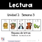 Unidad 2, Semana 3: REPASO de L, M, P, T, S    FREE