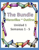 Maravillas ~ Unidad 1 outlines BUNDLE ~ grade 2