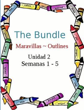 Maravillas ~ Unidad 2 outlines