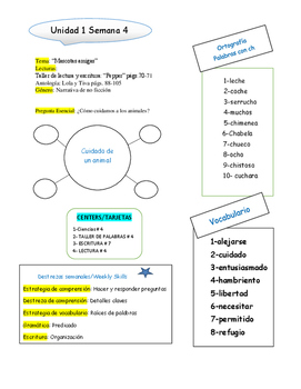 Maravillas/Weekly Teacher Strategies
