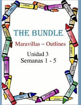 Maravillas ~ unidad 3 outlines