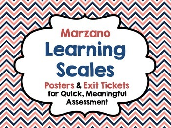 Marzano Learning Scales:Posters & Exit Tickets for Quick,