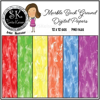 Marble Background Digital Papers (Smita Keisser Clip Art)