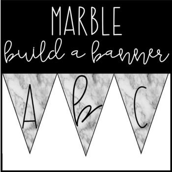 Marble Banner Letters 2   #digitaldollarspot