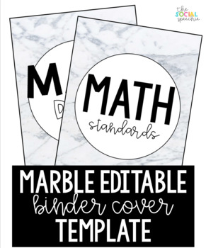 marble binder cover template editable by the social speechie tpt