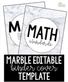 Marble Binder Cover Template - Editable