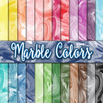 Marble Colors Texture - Digital Paper Pack - 24 Different Papers - 12 x 12