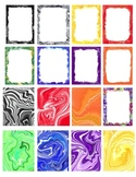 Marble- Geode Border and backgrounds