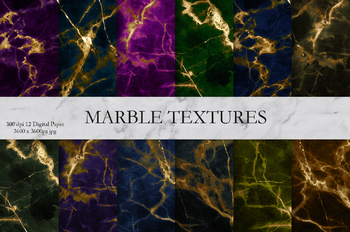 Marble, Gold & Textures