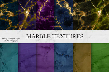 Marble, Gold Textures