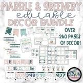 Marble & Greenery Classroom Decor MEGA Bundle