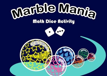 Marble Mania Math Dice (addition and subtraction activity)