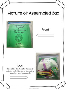 Marble Maze Challenge:  STEM Challenge in a Bag