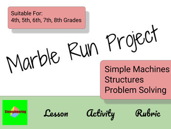 Marble Maze - STEM Simple Machines - Structures Project