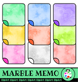 Marble Memo Sticky Note Paper