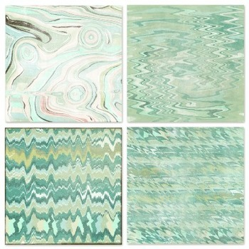 Marble Mint Green Digital Papers, Pastel Background Textures