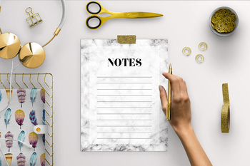 Marble Notes Pages