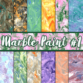 Marble Paint Textures Set #1 - Digital Paper Pack - 12 Papers - 12 x 12