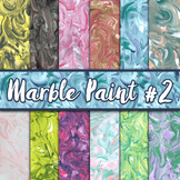 Marble Paint Textures Set #2 - Digital Paper Pack - 12 Papers - 12 x 12
