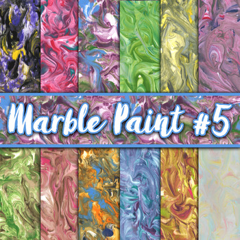 Marble Paint Textures Set #5 - Digital Paper Pack - 12 Papers - 12 x 12