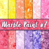 Marble Paint Textures Set #7 - Digital Paper Pack - 12 Papers - 12 x 12