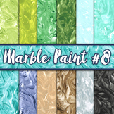 Marble Paint Textures Set #8 - Digital Paper Pack - 12 Papers - 12 x 12