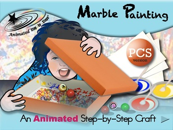 Marble Painting - Animated Step-by-Step Craft - PCS