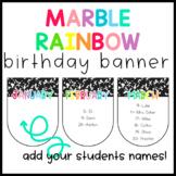Marble Rainbow Birthday Display Banner