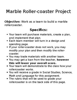 Marble Roller Coaster Project