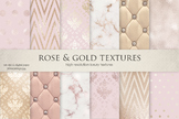Marble, Rose, Gold & Textures