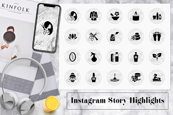 Marble Spa Instagram Story Icons, Marble Health & Beauty Instagram Covers