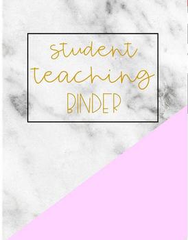 Marble Student Teaching Binder