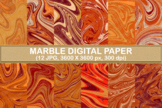 Marble Textures Digital Paper Background