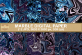Marble Textures Digital Papers Abstracts Backgrounds