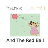 Marble The Kitten And The Red Ball