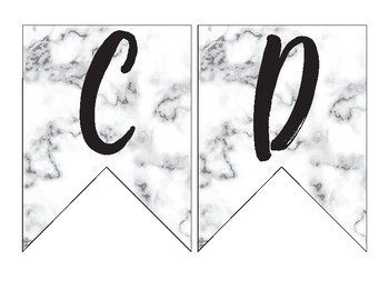 Marble Themed Banner Pennants