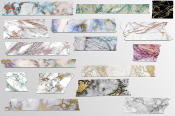 Marble Washi Tape Clipart, Marble Textures, Washi Clipart, Washi Tape Graphics