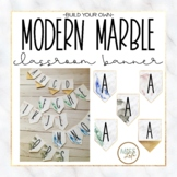 Modern Marble Classroom Banner