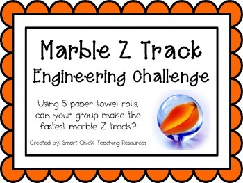 Marble Z Track: Engineering Challenge Project ~ STEM Activity!