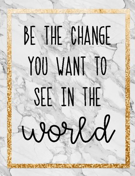 Marble and Glitter Inspirational Posters